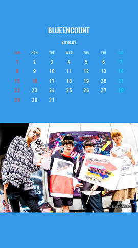 Calendar 2018.7